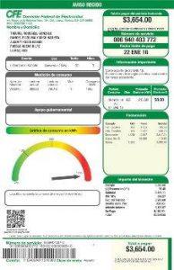 Consultar Estado de Cuenta CFE