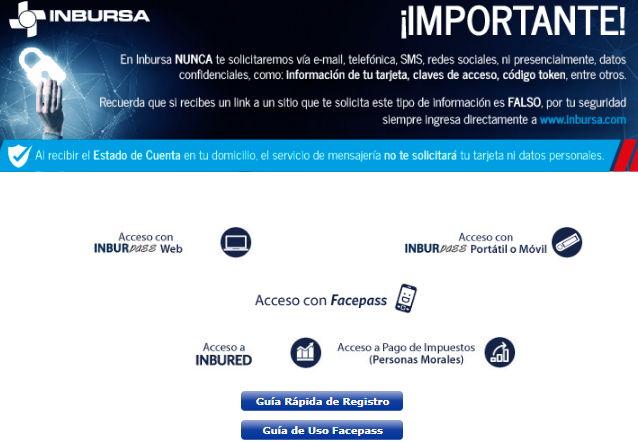 Acceso a la página del Banco Inbursa