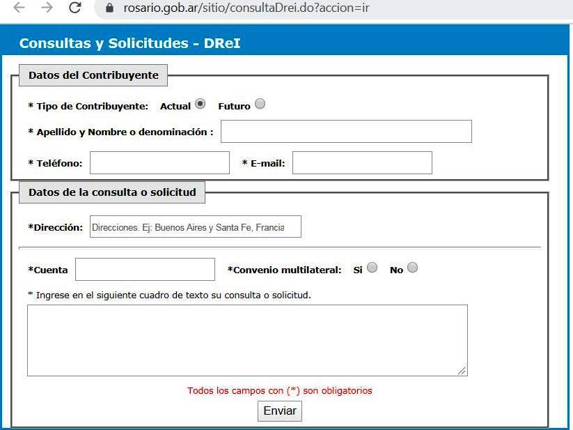 Consulta y solicitudes Drei