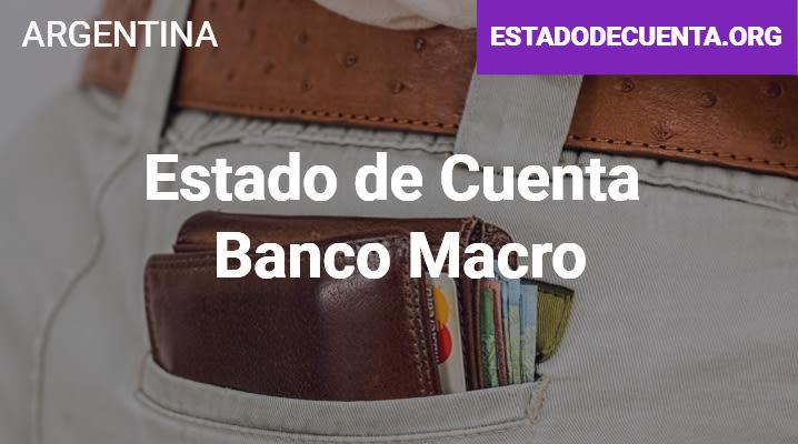 Estado de Cuenta Banco Macro