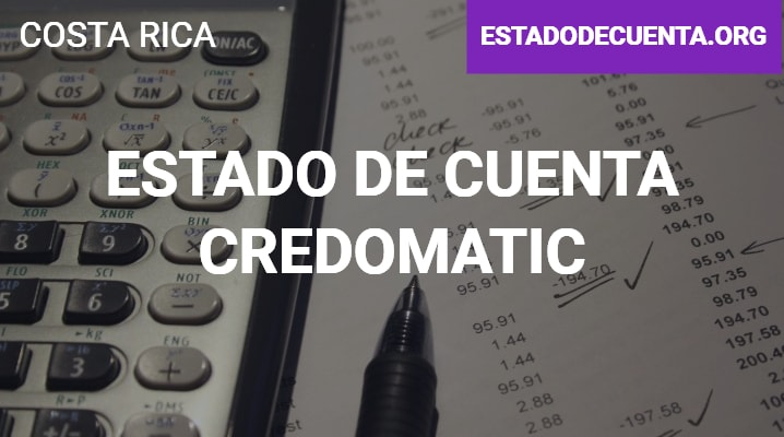 Estado de Cuenta Credomatic