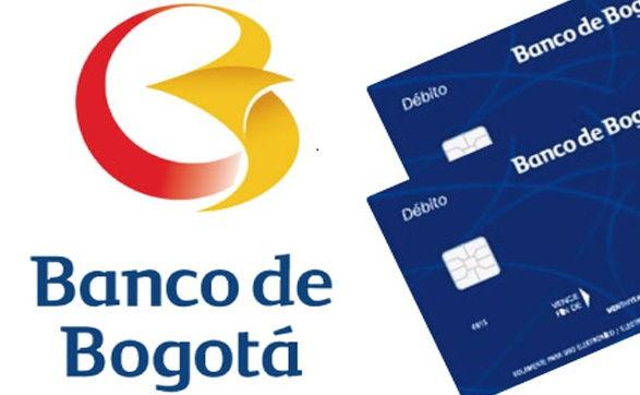 Logo y tarjetas del Banco de Bogotá