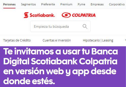 Página web de Colpatria