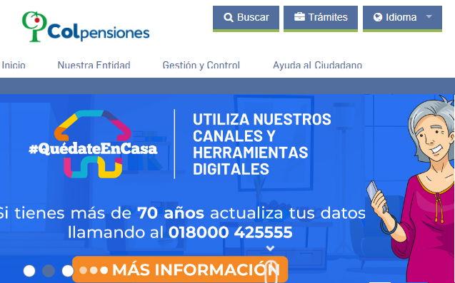 Plataforma web de Colpensiones