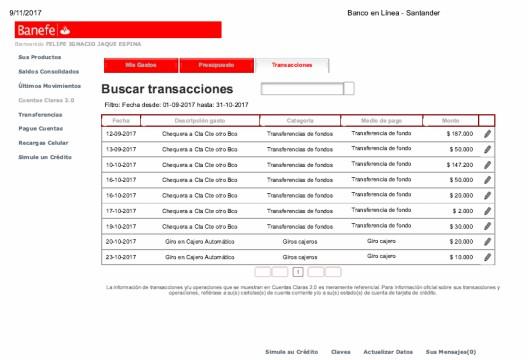 Estado de Cuenta Banefe