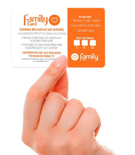 Tarjeta Family Shop