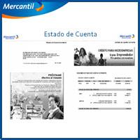 stado de Cuenta Banco mercantil