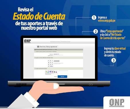Estado de Cuenta Onp online