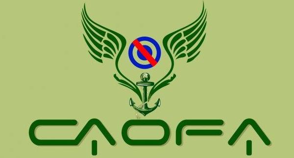 Logo de Caofa con el fondo verde