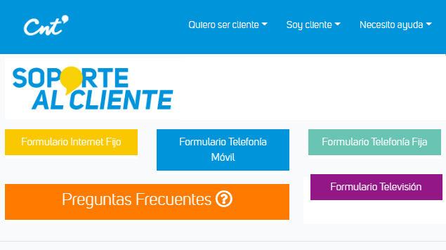 Página web de CNT