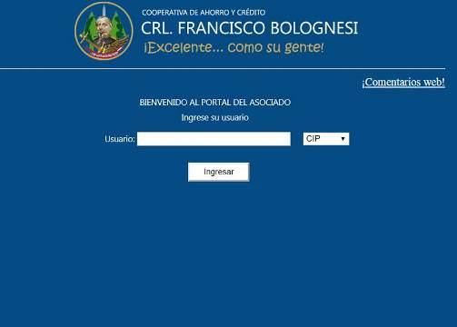 Portal web Cooperativa Bolognesi