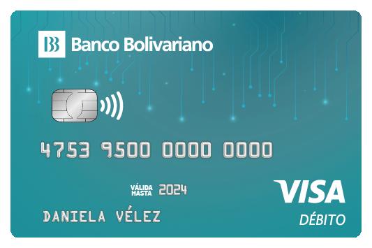 Tarjeta de débito del Banco Bolivariano