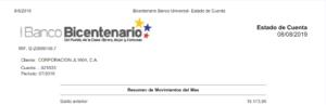Estado de Cuenta Bicentenario