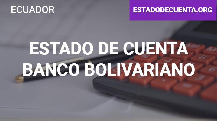 Estado de Cuenta Banco Bolivariano